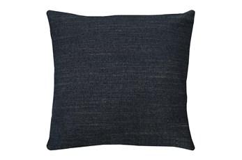 24X24 Curious Eclipse Navy Blue Throw Pillow