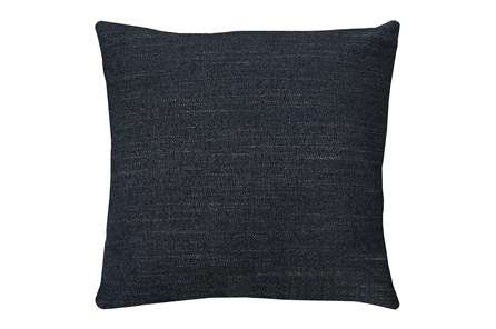 24X24 Curious Eclipse Navy Blue Throw Pillow - Main