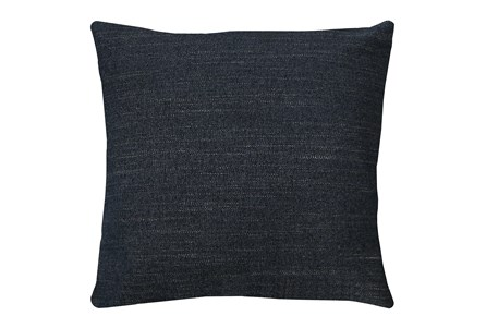24X24 Curious Eclipse Navy Blue Throw Pillow - Main