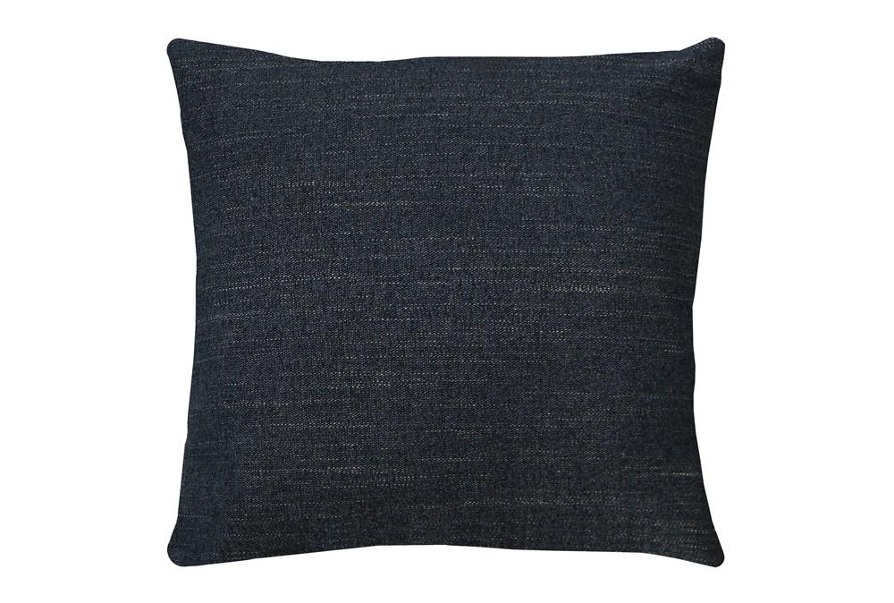 20X20 Curious Eclipse Navy Blue Throw Pillow