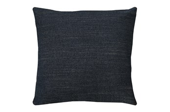 20X20 Curious Eclipse Navy Blue Throw Pillow