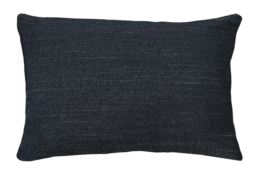 14x20 Curious Eclipse Navy Blue Throw Pillow Living Spaces