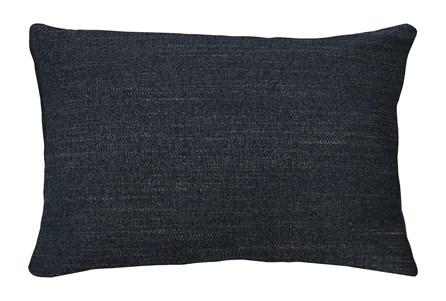 14X20 Curious Eclipse Navy Blue Throw Pillow - Main