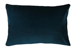 14X20 Superb Peacock Teal Blue Velvet Throw Pillow