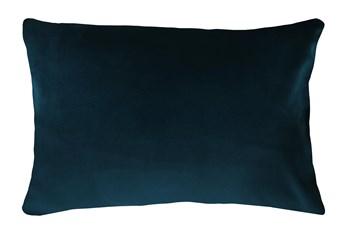 14X20 Superb Peacock Teal Blue Velvet Throw Pillow