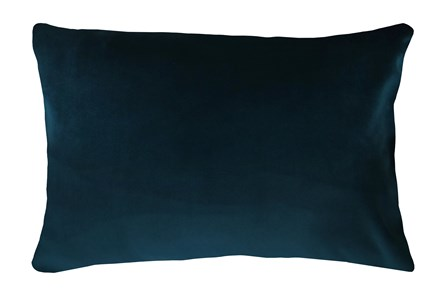 14X20 Superb Peacock Teal Blue Velvet Throw Pillow - Main