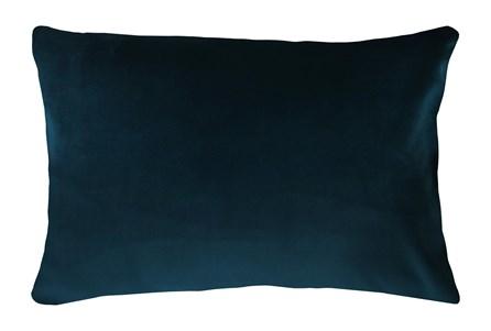 14X20 Superb Peacock Teal Blue Velvet Throw Pillow - Main