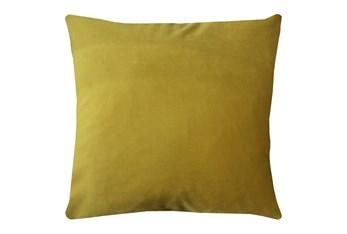 24X24 Superb Dijon Yellow Velvet Throw Pillow