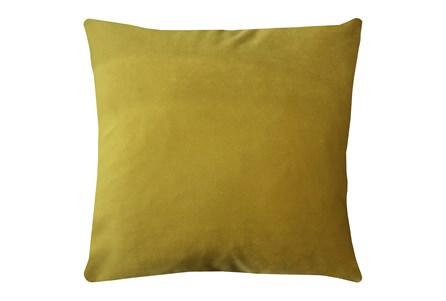 24X24 Superb Dijon Yellow Velvet Throw Pillow - Main