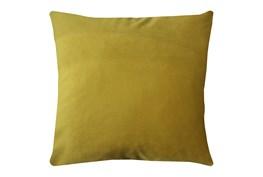 20X20 Superb Dijon Yellow Velvet Throw Pillow