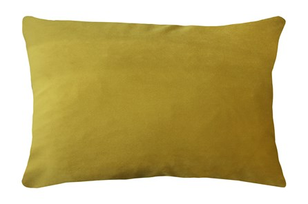14X20 Superb Dijon Yellow Velvet Throw Pillow - Main