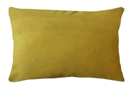 14X20 Superb Dijon Yellow Velvet Throw Pillow - Main