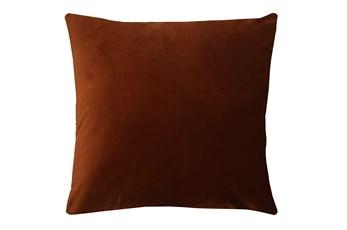 20X20 Superb Rust Orange Velvet Throw Pillow