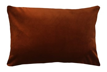 14X20 Superb Rust Orange Velvet Throw Pillow