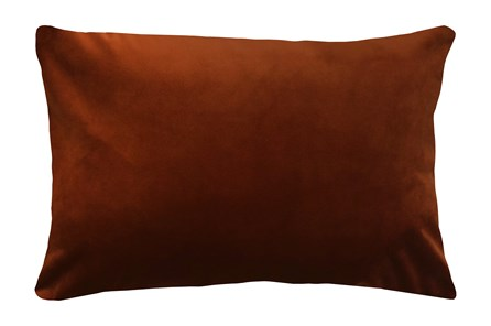 14X20 Superb Rust Orange Velvet Throw Pillow - Main