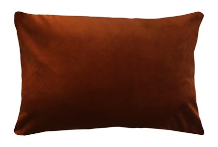 14X20 Superb Rust Orange Velvet Throw Pillow - Main