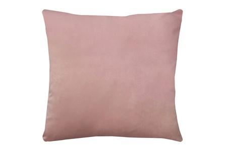 24X24 Superb Peony Pink Velvet Throw Pillow - Main
