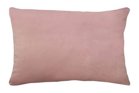 14X20 Superb Peony Pink Velvet Throw Pillow - Main