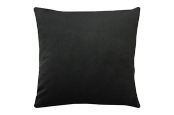 24X24 Superb Gunmetal Black Velvet Throw Pillow