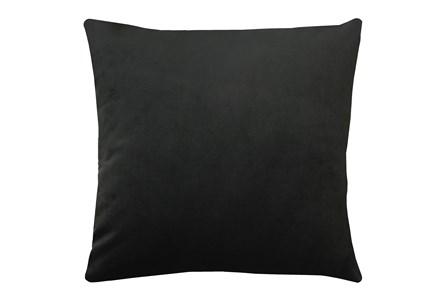 24X24 Superb Gunmetal Black Velvet Throw Pillow - Main