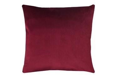24X24 Superb Wine Red Burgundy Velvet Throw Pillow