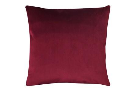 24X24 Superb Wine Red Burgundy Velvet Throw Pillow - Main
