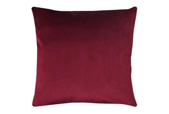 20X20 Superb Wine Red Burgundy Velvet Throw Pillow
