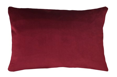14X20 Superb Wine Red Burgundy Velvet Throw Pillow - Main