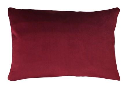 14X20 Superb Wine Red Burgundy Velvet Throw Pillow - Main