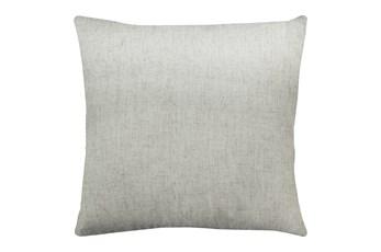 24X24 Caitlin Flax White Linen Throw Pillow