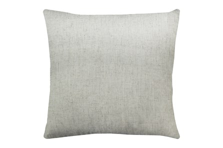 24X24 Caitlin Flax White Linen Throw Pillow - Main