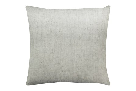 24X24 Caitlin Flax White Linen Throw Pillow - Main