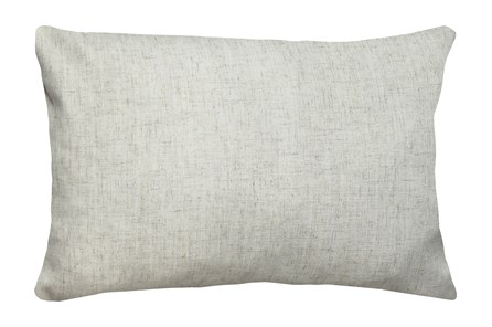 14X20 Caitlin Flax White Linen Throw Pillow - Main