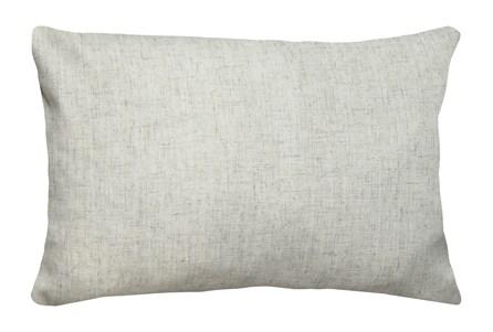 14X20 Caitlin Flax White Linen Throw Pillow - Main