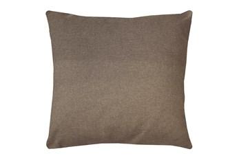 24X24 Jitterbug Taupe Brown Linen Throw Pillow