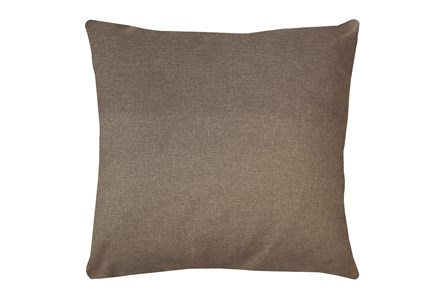 24X24 Jitterbug Taupe Brown Linen Throw Pillow - Main