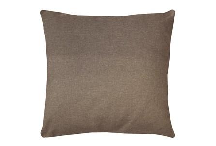 24X24 Jitterbug Taupe Brown Linen Throw Pillow - Main