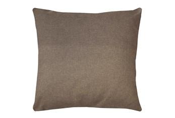 20X20 Jitterbug Taupe Brown Linen Throw Pillow