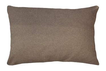 14X20 Jitterbug Taupe Brown Linen Throw Pillow