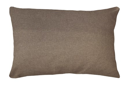 14X20 Jitterbug Taupe Brown Linen Throw Pillow - Main