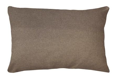 14X20 Jitterbug Taupe Brown Linen Throw Pillow - Main