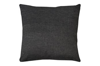 24X24 Jitterbug Gray Linen Throw Pillow