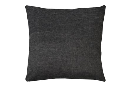 24X24 Jitterbug Gray Linen Throw Pillow - Main