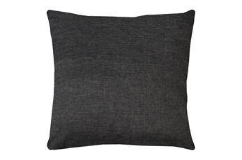 20X20 Jitterbug Gray Linen Throw Pillow