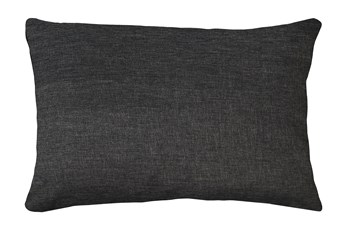 14X20 Jitterbug Gray Linen Throw Pillow