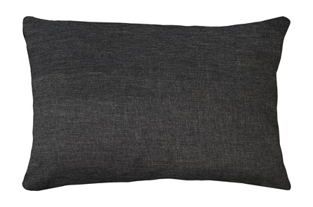 14X20 Jitterbug Gray Linen Throw Pillow - Main