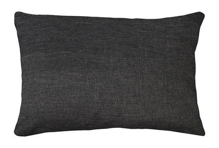 14X20 Jitterbug Gray Linen Throw Pillow - Main