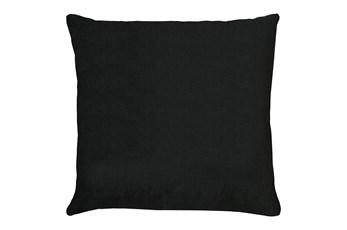 24X24 Bravado Caviar Black Throw Pillow