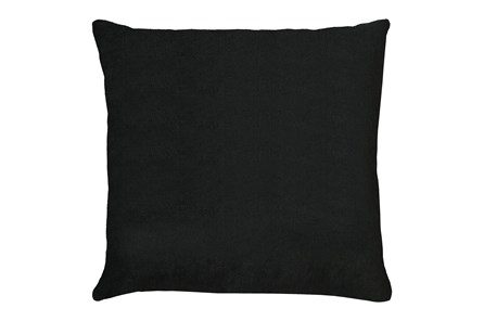 24X24 Bravado Caviar Black Throw Pillow - Main