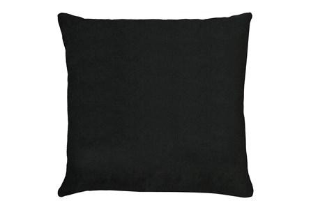 24X24 Bravado Caviar Black Throw Pillow - Main